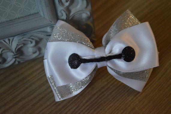 Baymax inspired Disney hair bow by AwayWeGoBows on Etsy