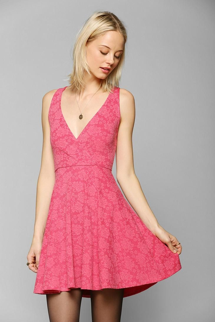 Pins And Needles Surplice Skater Dress #urbanoutfitters