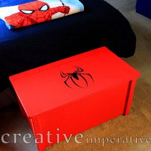 Amazing spider man trunk frikadas dormitorios for Cuartos decorados hombre arana
