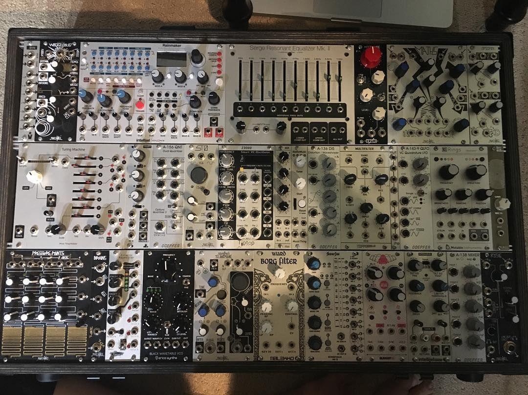 Proud to see a Serge Resonant EQ Mk. II in heare_la's fantastic system! #ModularOnTheSpot #LadiesOfModular