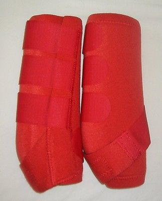 Other Horse Wear 139591: Red Barrel Racing Sports Medicine Boots Smb Neoprine Horse Leg Wraps Tack Medium BUY IT NOW ONLY: $32.94