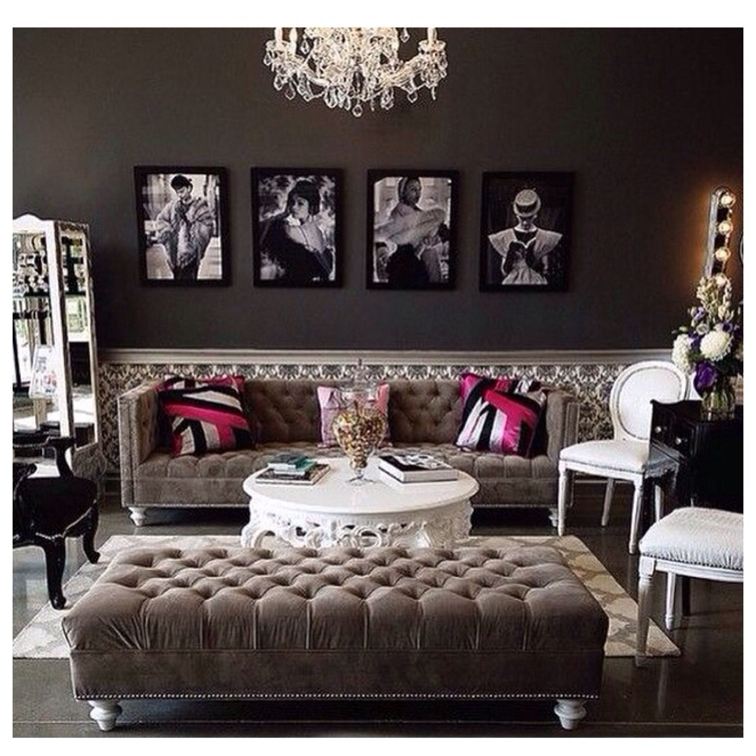 Living room (With images) Hollywood decor, Glamour decor