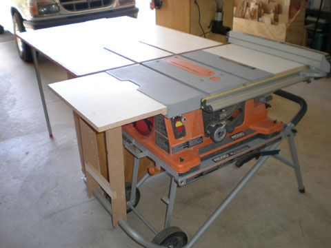 Portable Table Saw Outfeed Table Woodworking In 2019
