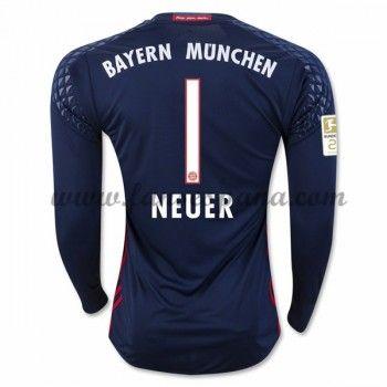 Camisetas De Futbol Bayern Munich Neuer 1 Portero Primera Equipación Manga  Larga 2016-17 ff61787b335