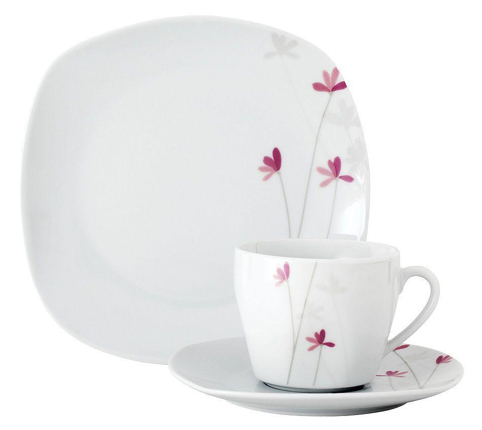 Van Well Kaffeeservice, Porzellan, 18 Teile, für 6 Personen ...