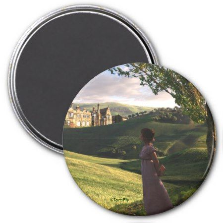 Gazing Upon Pemberley Jane Austen inspired art Magnet  tapclick to get yours right now