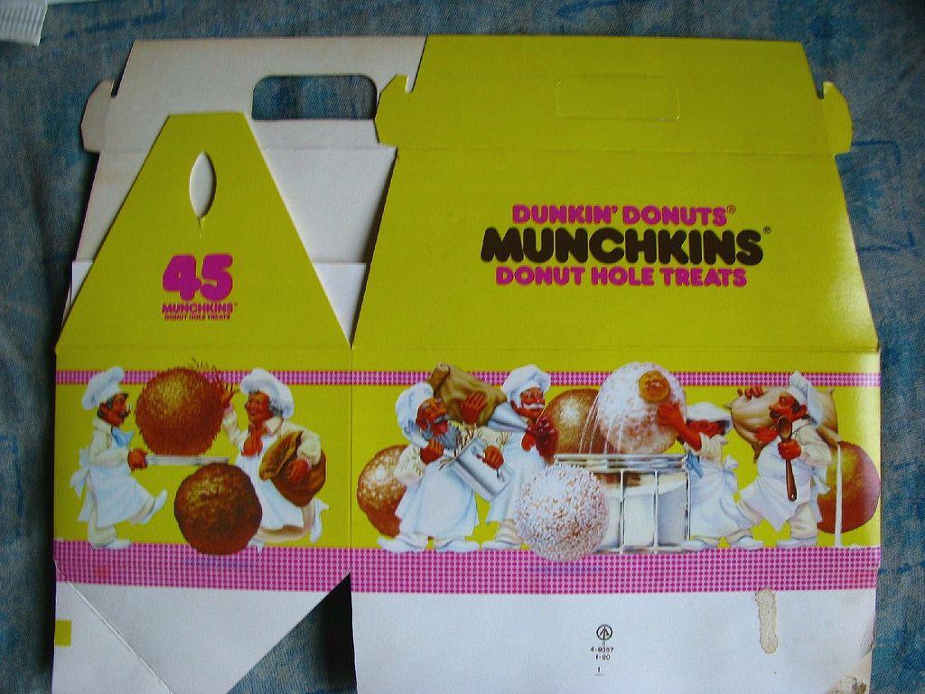 1989 dunkin donuts munchkins box childhood memories my