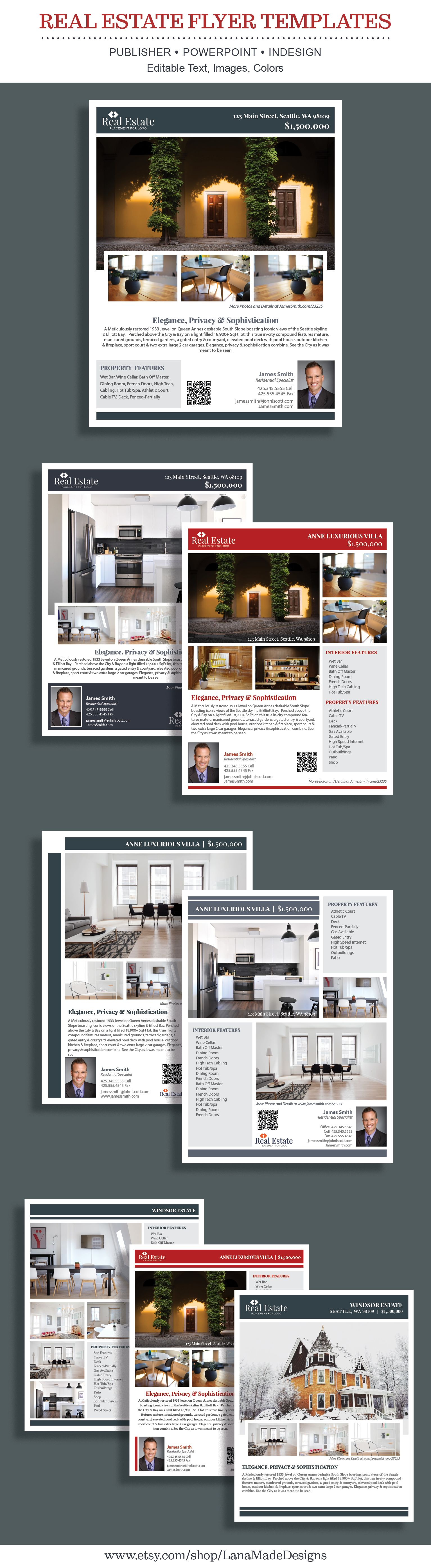Beautiful Modern Clean and Minimalist Real Estate Flyers. Templates ...