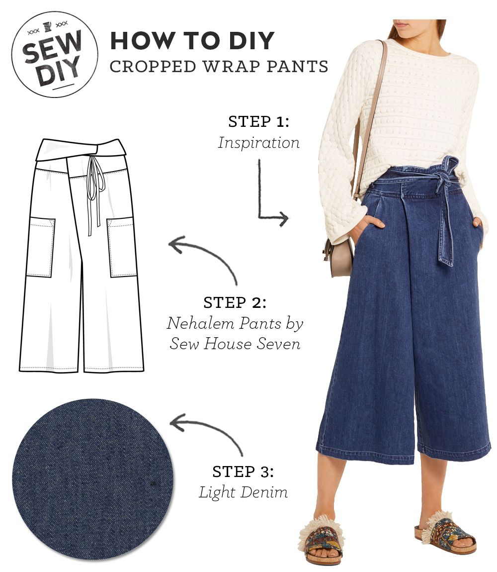 Diy outfit cropped wrap pants wrap pants sewing diy and wraps how to diy cropped wrap pants sew diy jeuxipadfo Choice Image