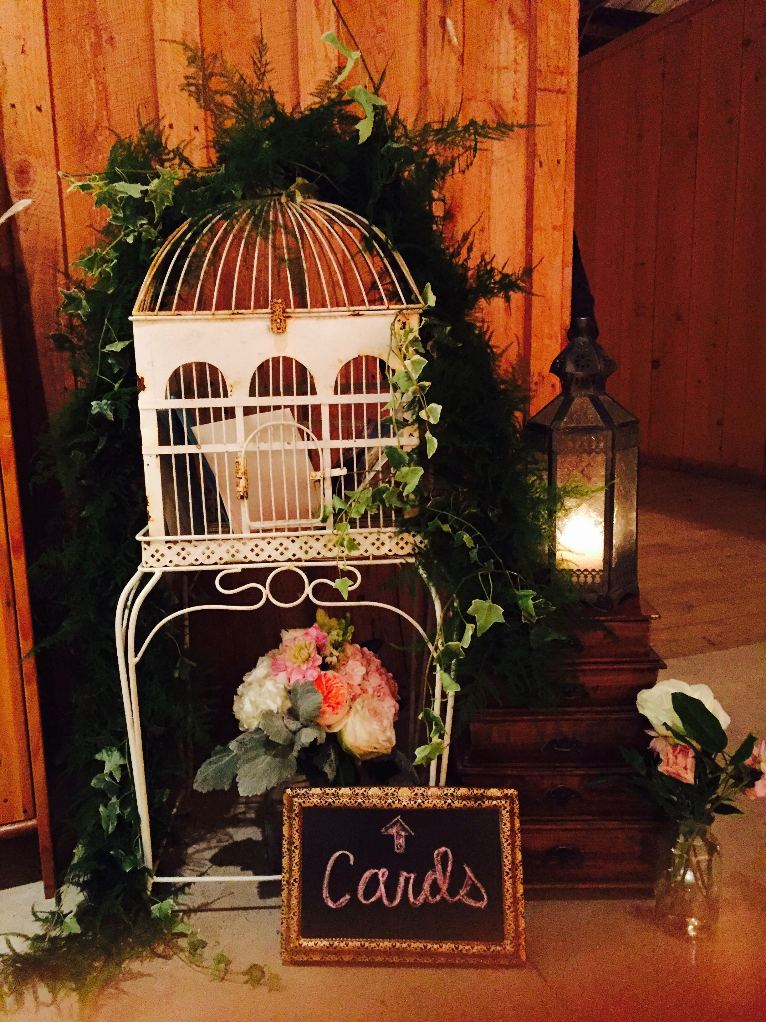 Bird Cage Card Box Vintage Bird Cage Rustic Wedding