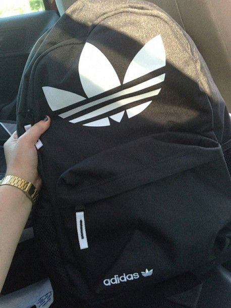 55c5b942303 ADIDAS BLACK BAG MOCHILA   YouTube hauls   Pinterest   Adidas ...