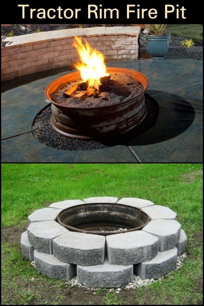 Keep Warm and Cozy Outdoors with an Old Tractor Tire Rim ...