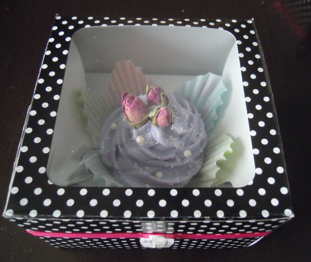 Romance Soap Cupcake Cold Process Roses Floral Handmade