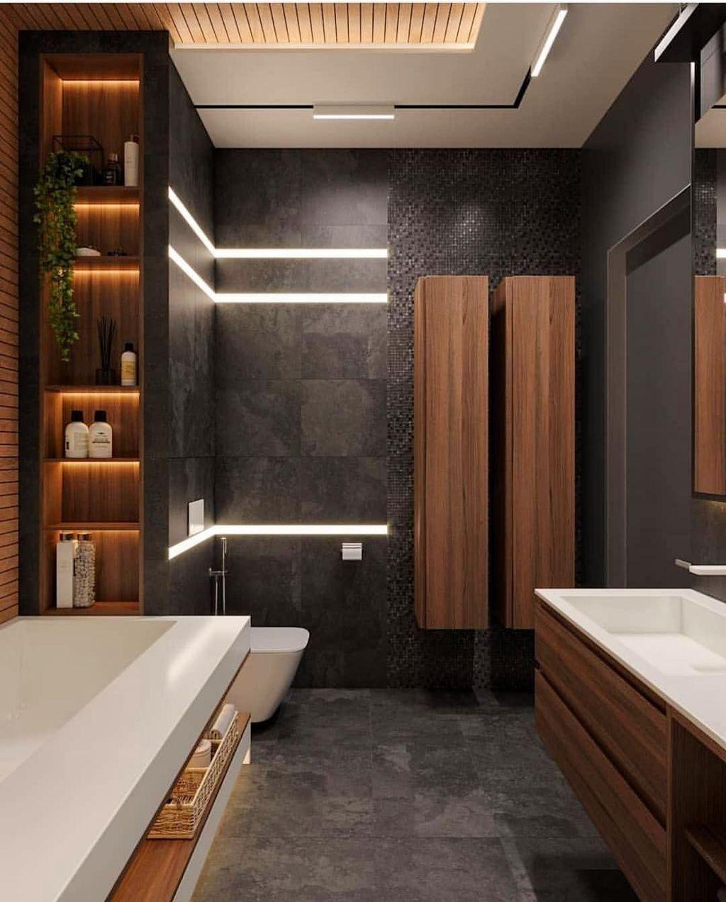 30 Amazing Wood Bathroom Wall Design Ideas Bathroom Interior Design Modern Bathroom Design Master Bathroom Design