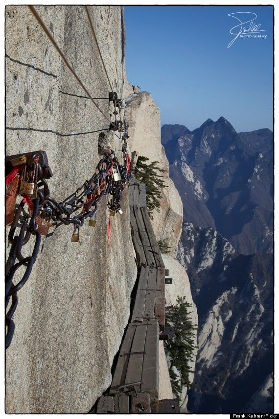 Hua Shan Mountain-China-Just in case you're looking for an extreme mountain climbing adventure.