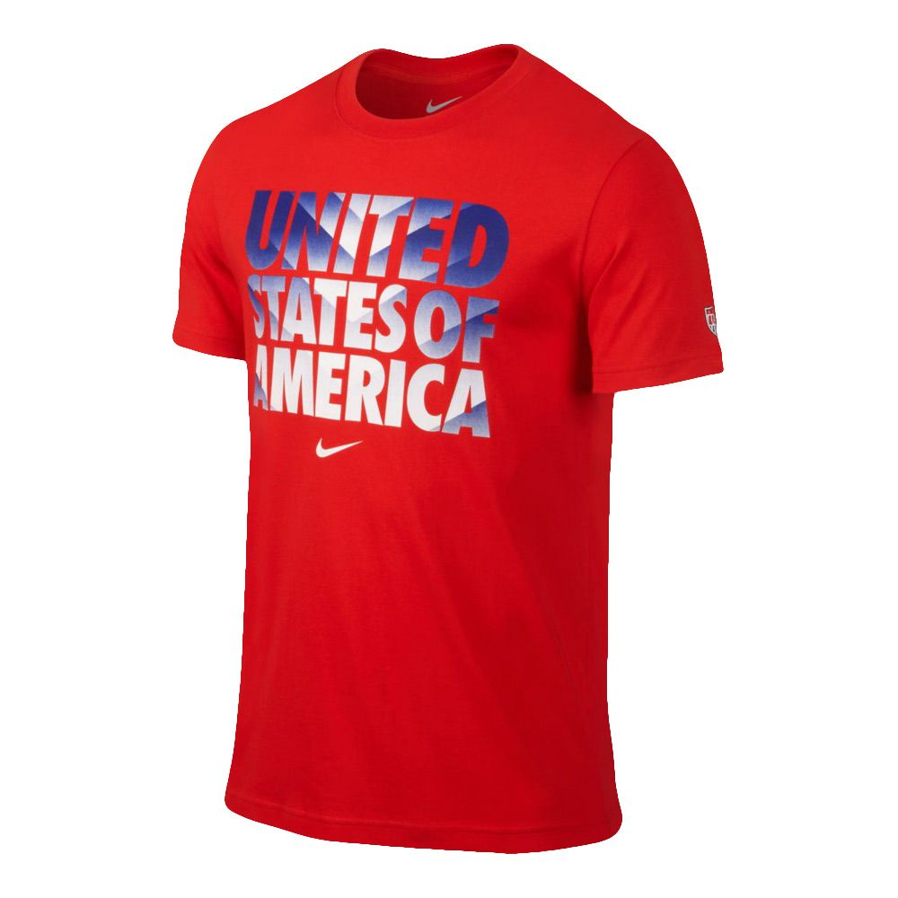 Nike USA Core Type Tee - Challenge Red