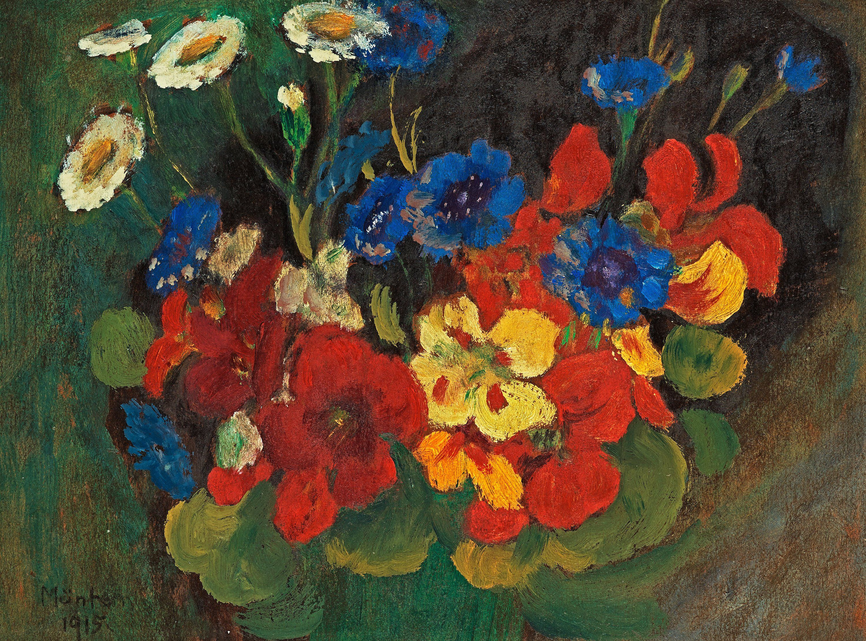 Expressionist Life Flowers Gabrielle Munter Wall Art Impressionist Paintings