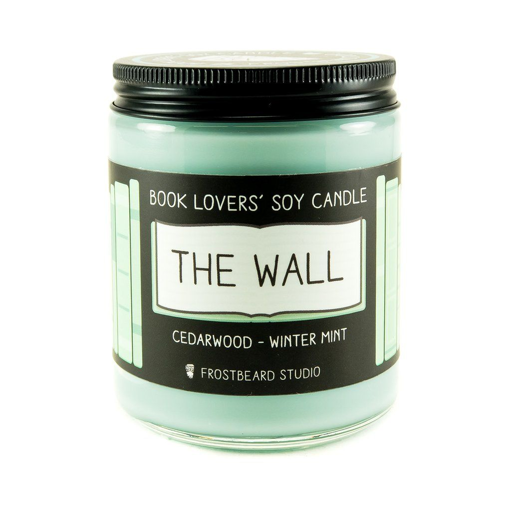 The Wall 8 oz soy candle front view