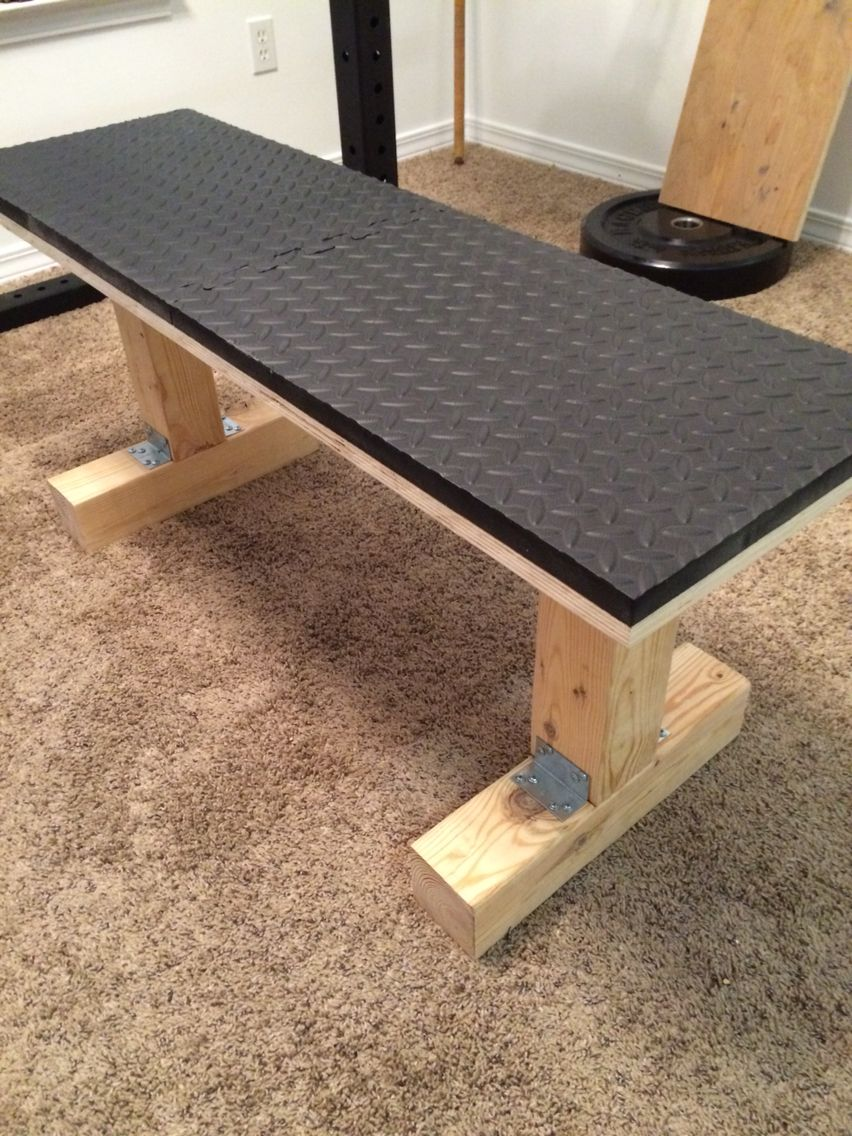 My Wooden Weight Bench Gym Room At Home Diy Home Gym Home Made Gym