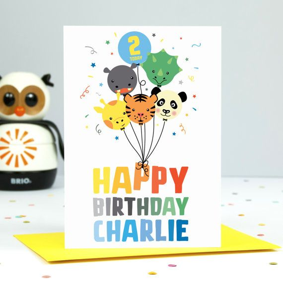 Personalised Boy S Birthday Card 1st 2nd 3rd 4th Etsy Personalized Birthday Cards Birthday Cards For Boys Its A Boy Balloons
