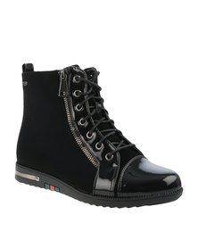 61da22244469 Miss Black Algedia Ankle Boots Black   Shoes   Pinterest   Flat ...