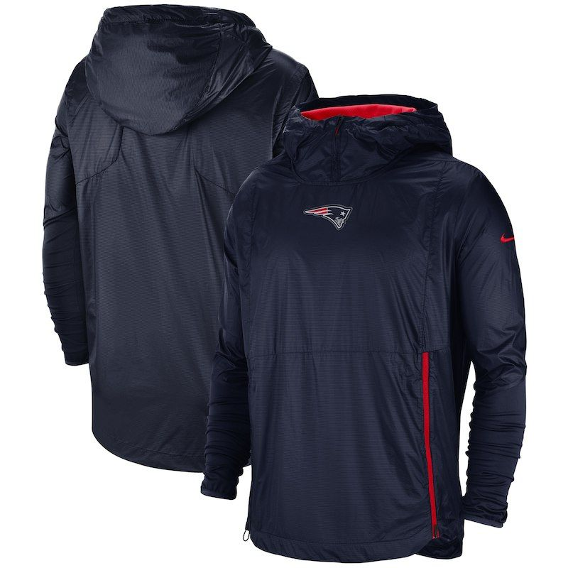e5908cbcc2 New England Patriots Nike Sideline Alpha Fly Rush Pullover Jacket – Navy