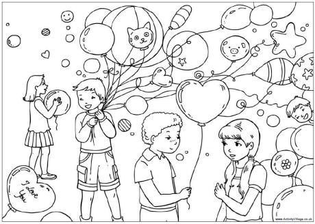 party coloring pages Valentines party colouring page | Homeschool | Valentines day  party coloring pages