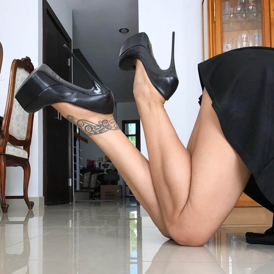 Nude Lace Up Platform Heels Online Shopping