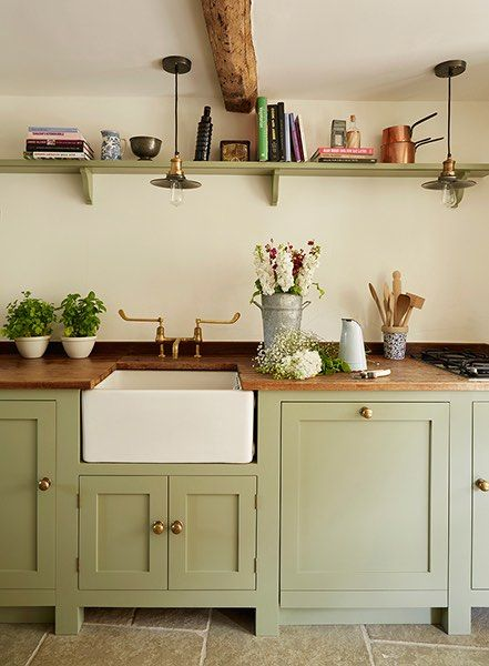 Best 15 Country Kitchen Ideas Rustic Kitchen Cabinets Green 400 x 300