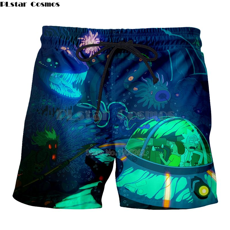 Yx Girl Newest Casual Shorts Unisex Breathable Summer Cartoon Rick And Morty 3d Print Men Women Body Building Short Pants Summer Casual Shorts