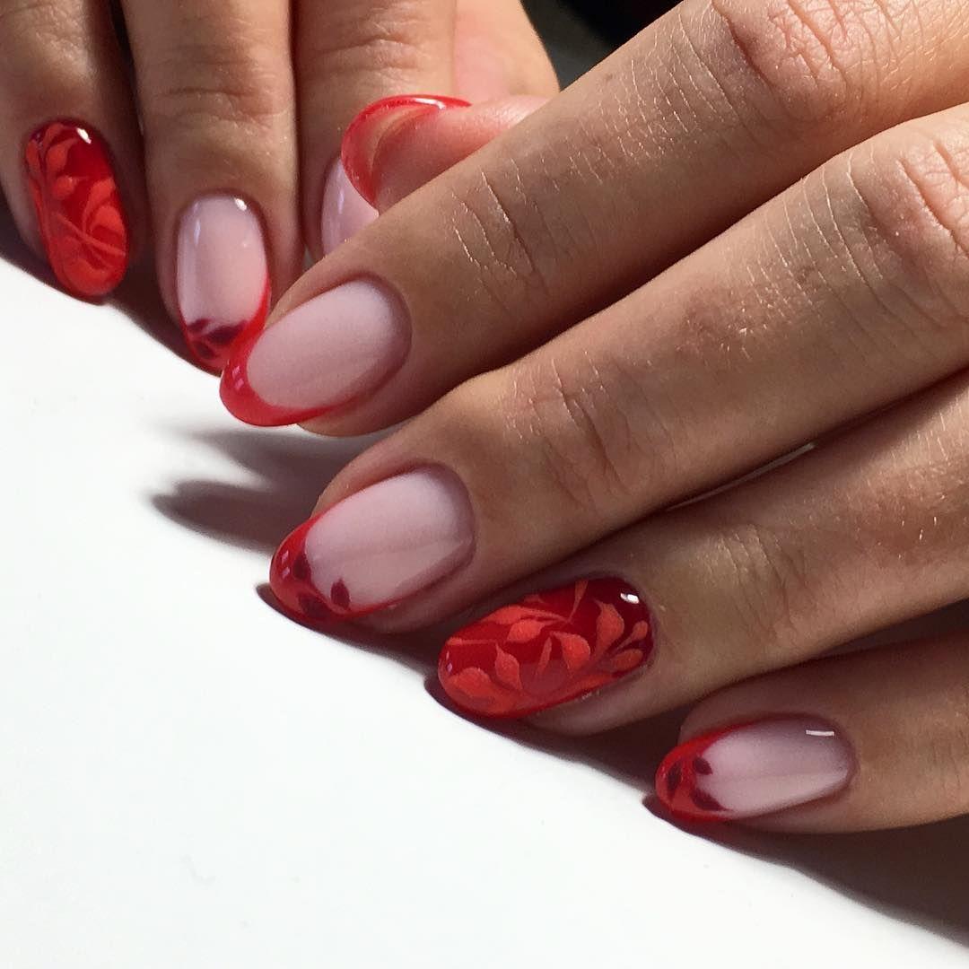 Красный френчик! #nailartist #nailswag #nailart #nails # ...