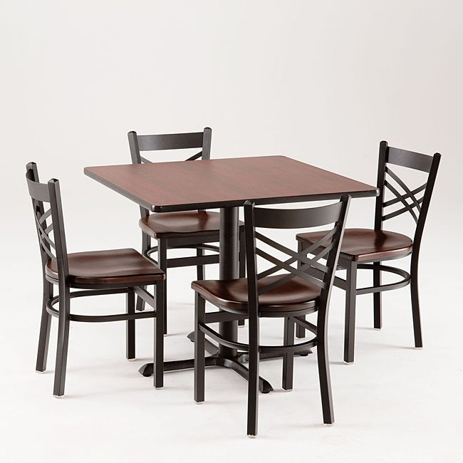 Commercial Dining Room Tables Entrancing Cambridge 901 5Piece Black Cherry Dining Set Commercial Dining Design Inspiration