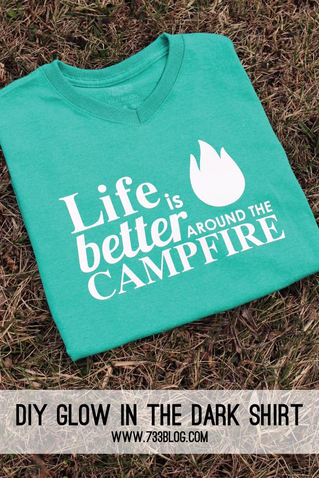 Diy Glow In The Dark Shirt Best Of Pinterest Camping Glamping