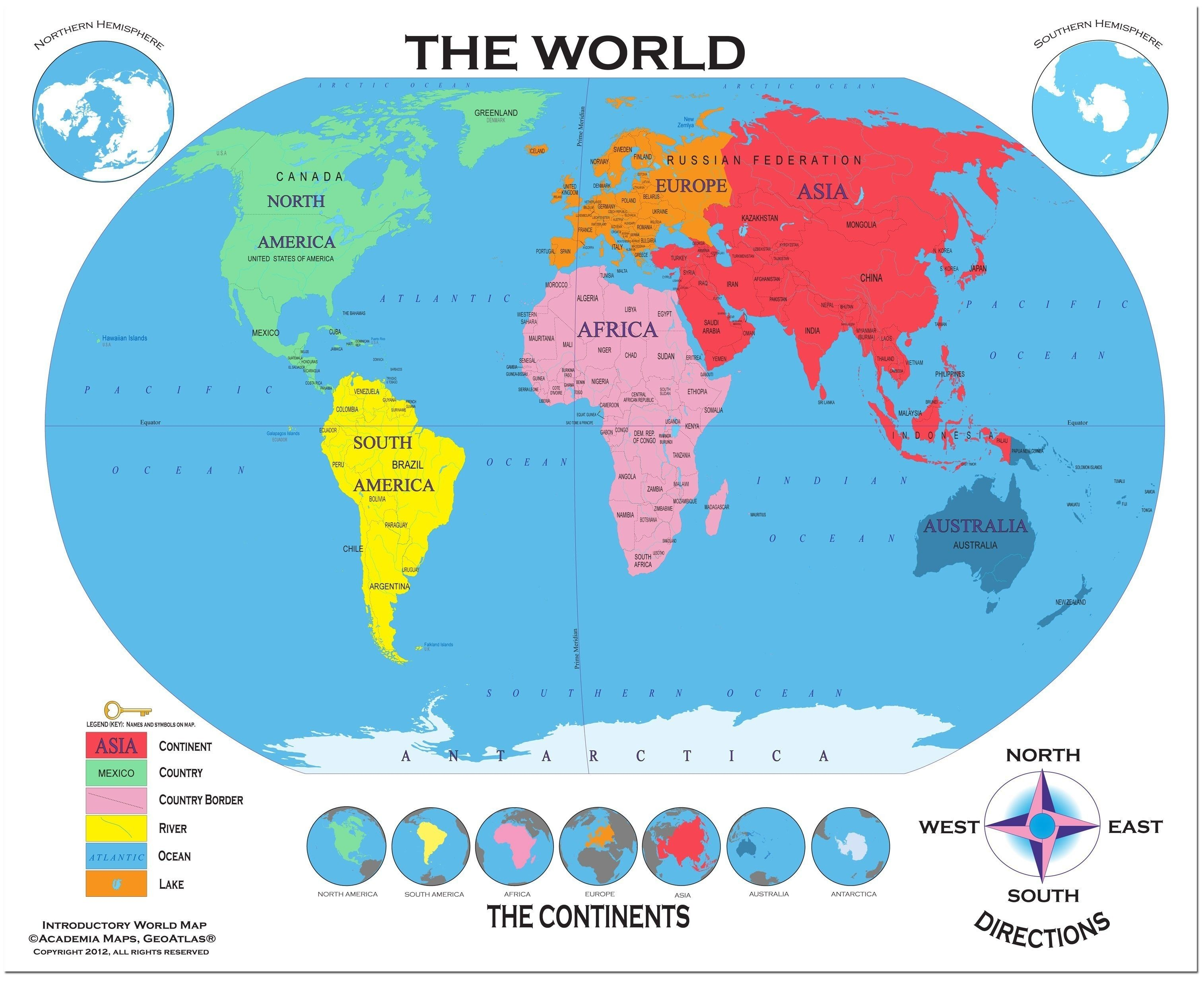 World Map Continents And Oceans Quiz Refrence