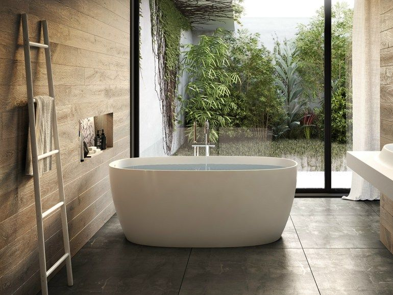 Vasca da bagno centro stanza in materiale composito ATTITUDE By ...