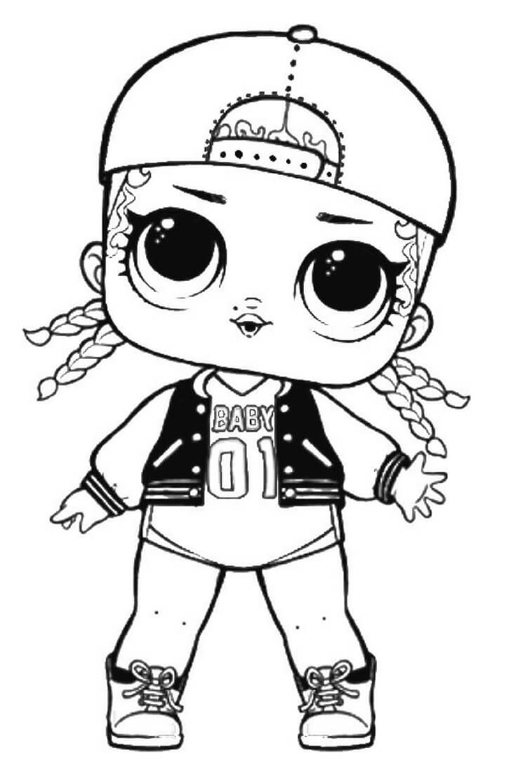 MC Swag Lol Suprise Doll Coloring Page Lol surprise doll