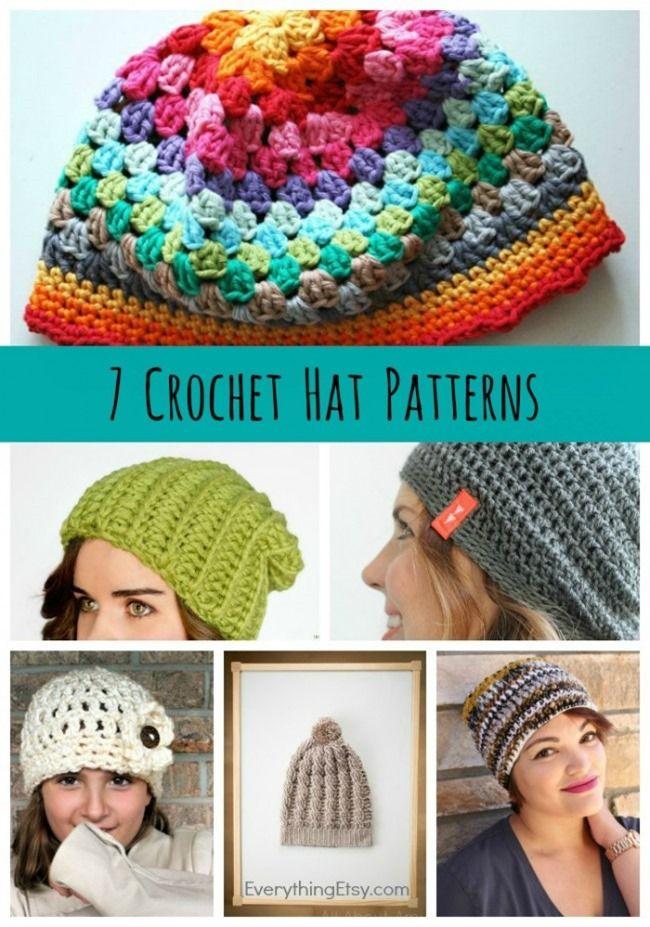 7 Crochet Hat Patterns - Free Designs on EverythingEtsy.com ...