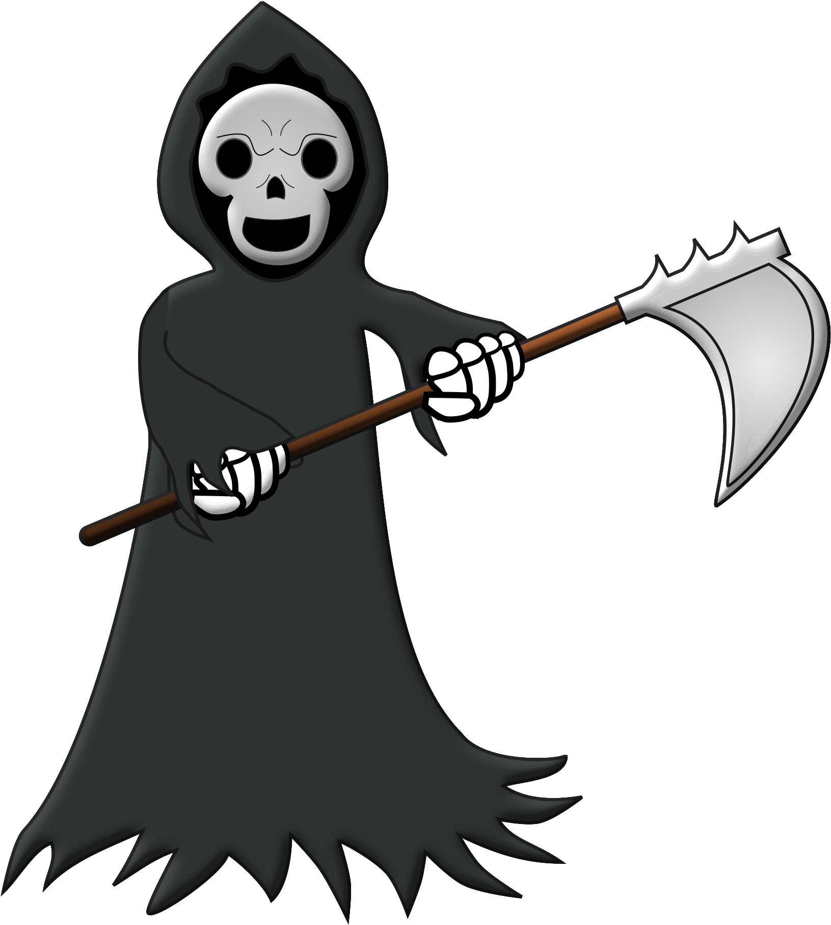 View Large Size 565 X 668 2 Grim Reaper Cartoon Transparent Clipart This Png Image Is Free And Cool Grim Reaper Cartoon Grim Reaper Cartoon