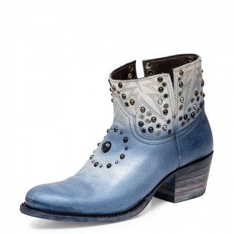 11851 Debora Ras Marfil Term Azul Plata.  http://botas-online.es WorldWide Shipping: shopboots.com #Sendra #Boots #botas #cowboy #cowgirl