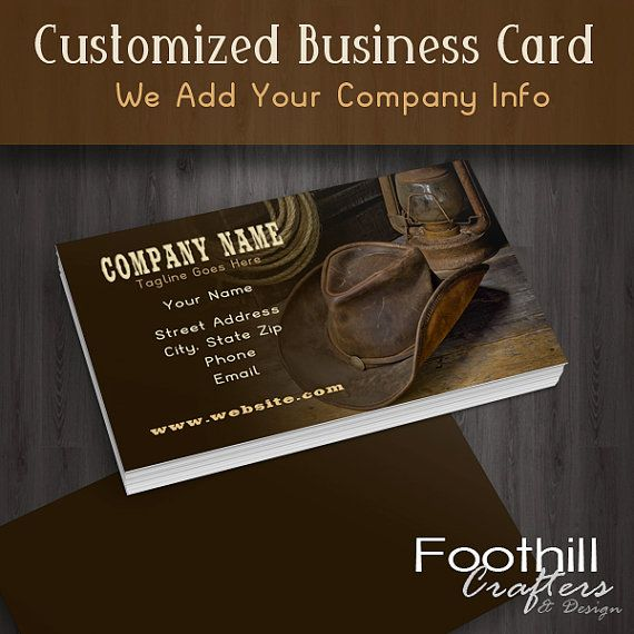 Premade business card design western cowboy by foothillcrafters 14 00
