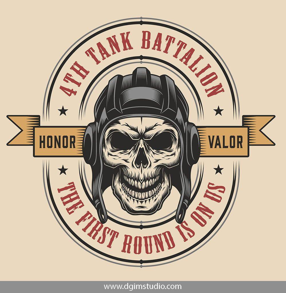 Vintage Military Emblems Collection Vintage Graphic Design Vintage Tshirt Design Vector Design