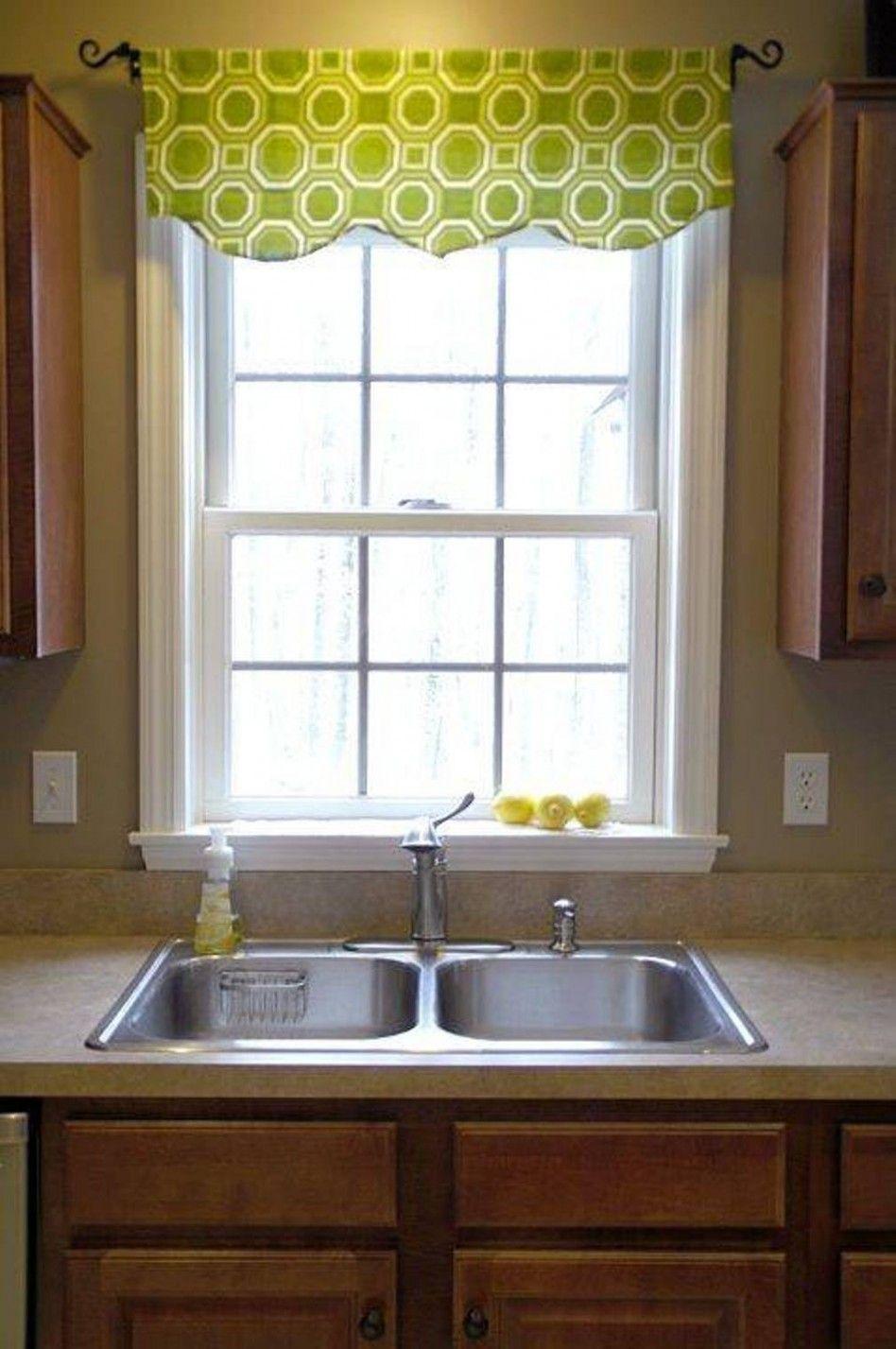 Kitchen window treatment ideas  decorations simple cotton green octagon pattern kitchen valances