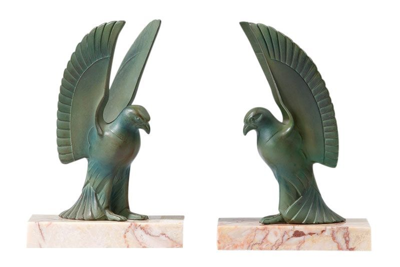 Art Deco pair of bookends with an eagle motif, France, 1930/1940 available on CLASSIQS - www.classiqs.com