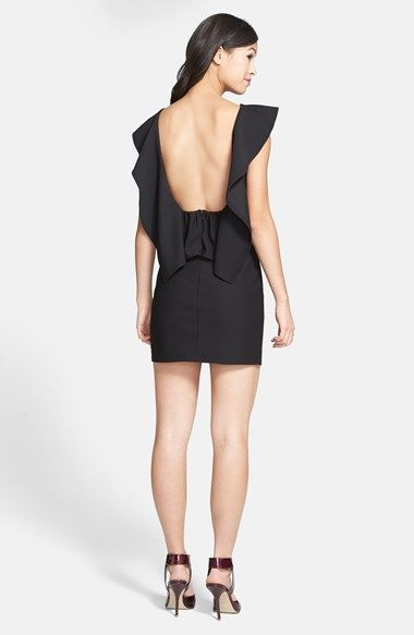 372650253 Trixxi Ruffle Back Body-Con Dress (Juniors) (Online Only) | Nordstrom