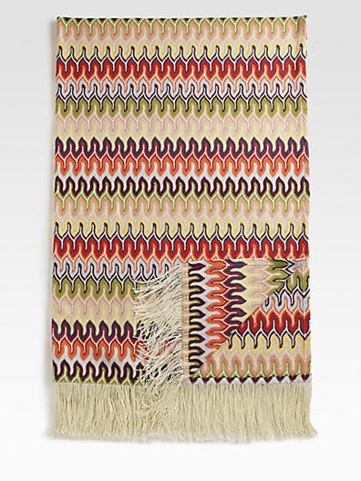A Missoni throw is always the perfect way to accessorize your home!
