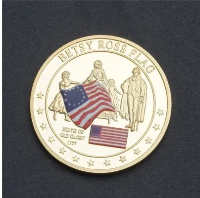 BETSY ROSS HISTORY OF OLD GLORY CHALLENGE COIN in 2020