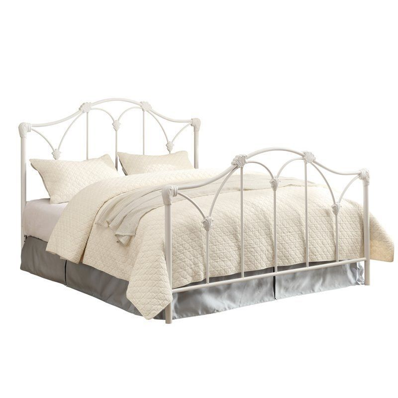 Coaster Scarlett Full Metal Bed with Headboard in White #Coaster ...