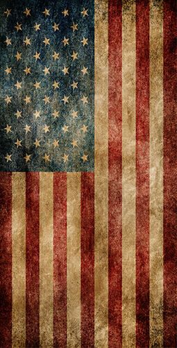 Worn American Flag Themed Light Weight (1x4) Regulation Size Custom Cornhole Board Game Set - Corn Hole - Bag Toss