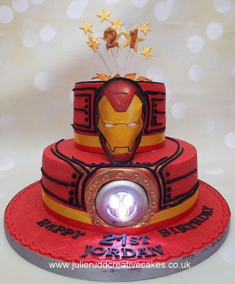 Ironman Cake With A Light With Images Ironman Cake Avenger