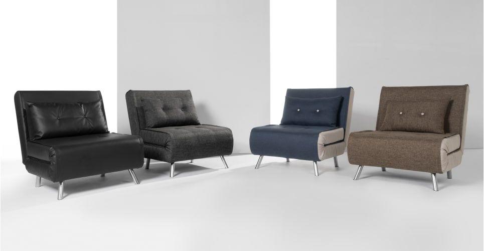 Haru Single Sofa Bed Quartz Blue Trong 2020